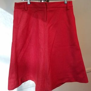 J. Crew Red Wool Skirt Size 4 NWOT!
